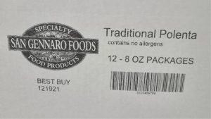 Traditional Polenta label